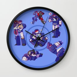 Soundwaves - Blue Wall Clock
