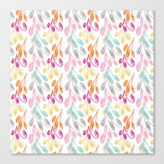 Smaller Colorful Swirls Canvas Print