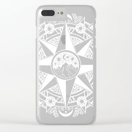 Journey to Moon Mountain   White Clear iPhone Case
