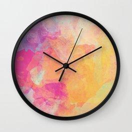 Colorful Watercolor Painting Abstract Wall Clock