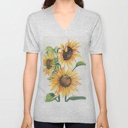 Sunny Sunflowers Unisex V-Neck