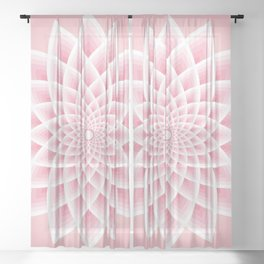 Pink Lotus Sheer Curtain