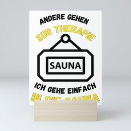 Sauna Others Go To Therapy Saunas Mini Art Print