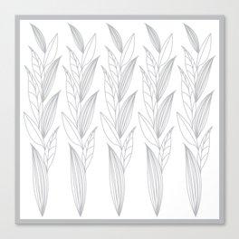 Eternity in Silver Leaf II Canvas Print