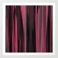 Pink and black Streaks Art Print