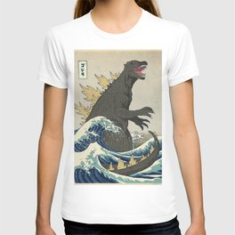 The Great Godzilla off Kanagawa T-shirt
