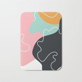 Abstract Seamless Graphic Modern Pattern Beautiful Colorful Background Bath Mat