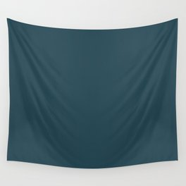 Regal Dark Turquoise, Blue Green, Gray Solid Color Pairs To Sherwin Williams Rainstorm SW 6230 Wall Tapestry