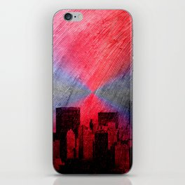 cityscape and colored sky -3- iPhone Skin