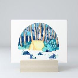 Tranquil camping Mini Art Print