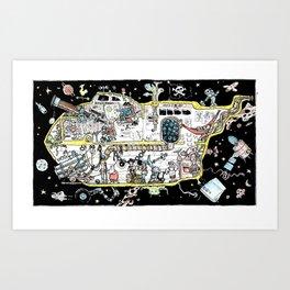 Space Piracy Art Print