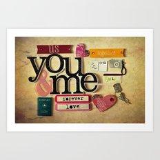 Collage Love - You & Me Art Print
