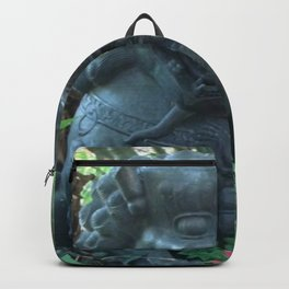 Lion Statue in the Tropics Photography Backpack