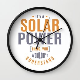Solar Power Thing Wall Clock