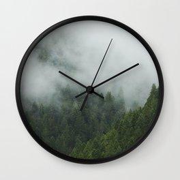 Tree Fog Wall Clock