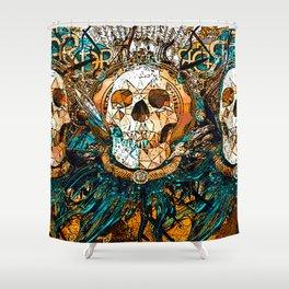Old Skull Shower Curtain