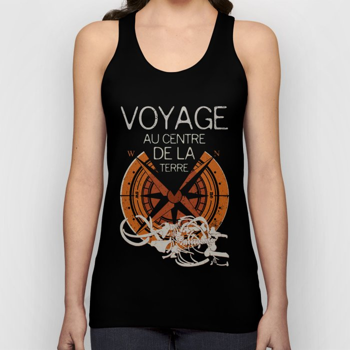 Books Collection: Jules Verne Unisex Tank Top