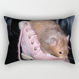 The Old Hamster in the Shoe Rectangular Pillow