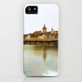 Lucerne Cityscape 1 iPhone Case
