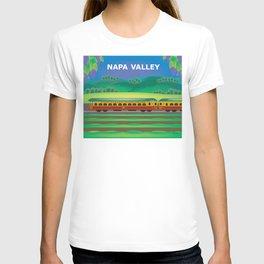 Napa Valley, California - Skyline Illustration by Loose Petals T-shirt