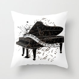 Gifts for Pianist Throw Pillow