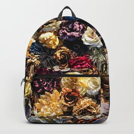 Flower Wall // Full Color Floral Accent Background Jaw Dropping Decoration Backpack