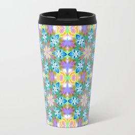 Abstract Blue Spring Flowers Travel Mug