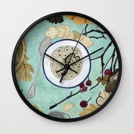Mushroom Porridge  Wall Clock