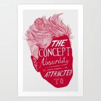 david lynch Art Prints featuring David Lynch by Daniel Grushecky
