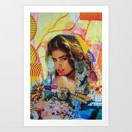 Cindy Crawford Art Print