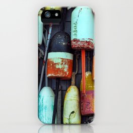 Float on a wall, Color, Cape Cod iPhone Case