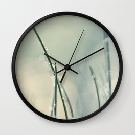 grass bokeh Wall Clock