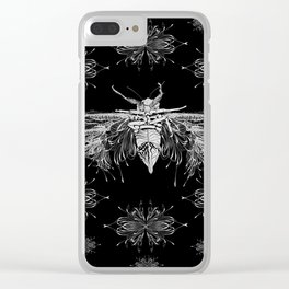 Monster Cicada Black Clear iPhone Case