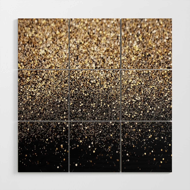 Black Royalty Glitter Wood Wall Art By Ldor Society6