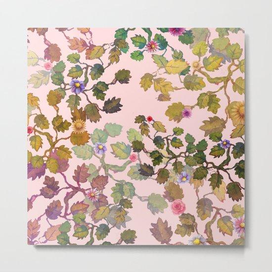 pink nature garden Metal Print