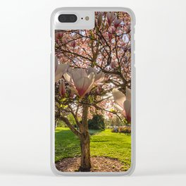 Manito Magnolia in Bloom Clear iPhone Case
