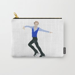 The boy in the blue vest. Figure skater. Carry-All Pouch