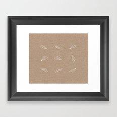all over the planes Framed Art Print
