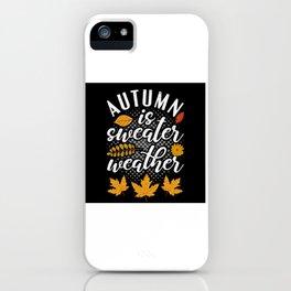 Fall Season October November iPhone Case