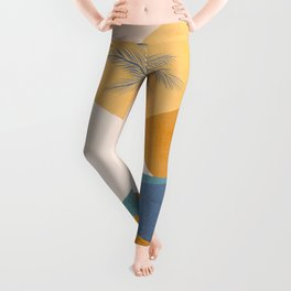 Tropical Palm Sunset - Abstract landscape Leggings