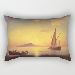 The Bay of Naples by Ivan Aivazovsky Rectangular Pillow