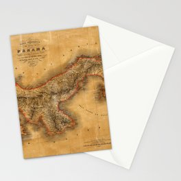 Map of Panama 1864 Stationery Cards