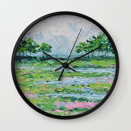 Marsh Romance No. 2 Wall Clock