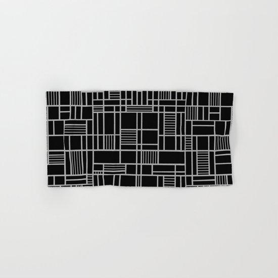 Map Lines Silver Hand & Bath Towel