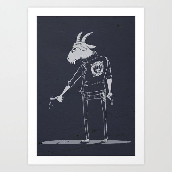The Lightning Goatz Art Print