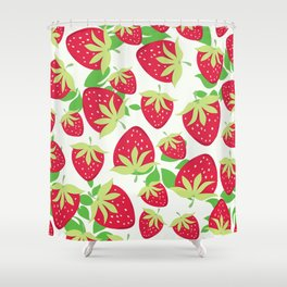 Sweet strawberries pattern Shower Curtain
