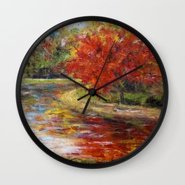 Red Nature Wall Clock