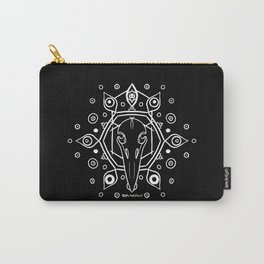 Raven Skull (All-Seeing) - White Carry-All Pouch