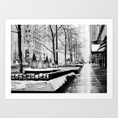 Christmas time in Chicago Art Print