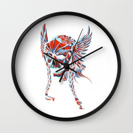 Death Flying Skull Wall Clock